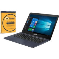 Pack Ordinateur Portable ASUS E402WA-GA007T - 14 pouces - AMD E2-6110 - RAM 4Go - Stockage 64Go + Norton Security 2018 Deluxe