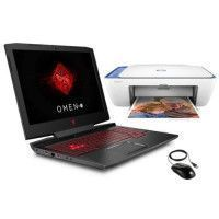 HP PC Portable OMEN 15-ce052nf - 15,6FHD - i7-7700HQ - 8GoRam + Stockage 1To + 256Go SSD -GeForce GTX 1050 + imprimante + souris