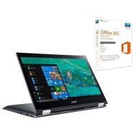 ACER PC Portable Convertible Spin SP314-51-32TK 14 FHD - RAM 4Go - i3-6006U - Stockage 256Go SSD - HD Graphics 520 + Office 365