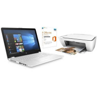 HP PC Portable HP15bs113nf - 15.6 - RAM 4Go - Core i5-8250U - Intel HD 620 - Stockage 1To + HP DeskJet 2620 Tout-En-Un + Office