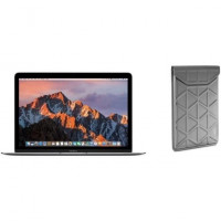 APPLE MacBook MNYF2FN/A 12  - Intel Dual Core M3 1.2GHz - Stockage 256Go - Gris Spatial + TARGUS Housse - Argent