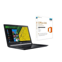 ACER PC Portable Aspire A515-51-56VN 15,6 FHD - RAM 6Go - i5-7200U - Stockage 128Go SSD + 1To HDD - HD Graphics 620 + Office 365