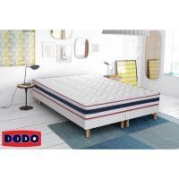 DODO 2 Sommiers tapissiers en bois massif 2 x 90 x 200 cm - 14 lattes fixes - SALVIA