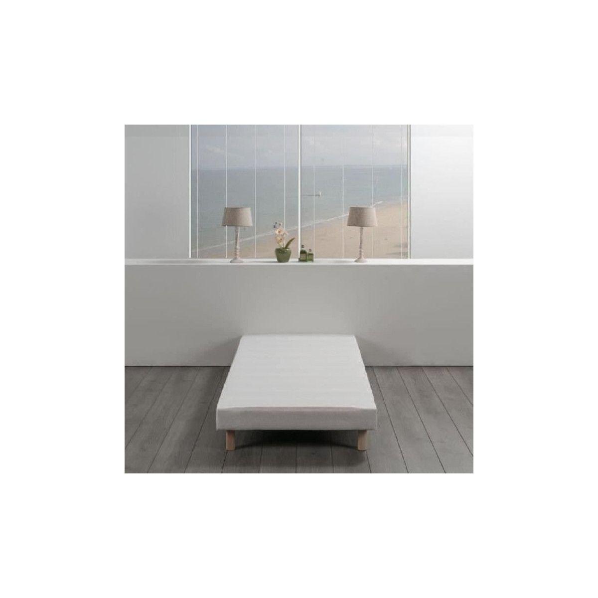 Ou Acheter Des Sangles De Tapissier sommier tapissier a lattes 90 x 190 - bois massif blanc + pieds bois verni  clair - finlandek rakenne