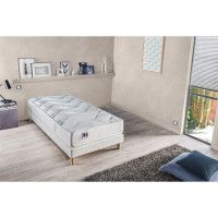CONFORT DESIGN Ensemble matelas + sommier 90 x 190 - Latex - 18 cm - Ferme