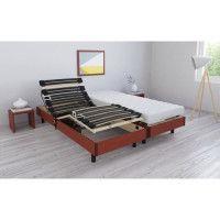 RODA Ensemble relaxation matelas + sommiers electriques 2 x 80 x 200 cm - Mousse - 14 cm - Ferme