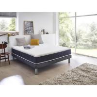 Sur-matelas mousse memoire de forme 180 x 200 - Confort equilibre - Epaisseur 5 cm - Dehoussable et lavable - FINLANDEK Varmuus