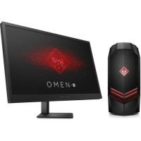 HP PC de Bureau Gamer Omen 880096nf - RAM 8Go - AMD RYZEN 7 1700 - NVIDIA GTX 1050 - Stockage 1To + Ecran Omen 25 144Hz