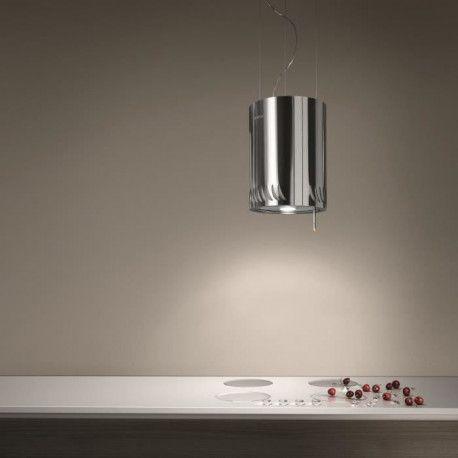 ELICA NAKED IX/F/25 - Hotte decorative ilot - Recyclage - 480m3-h - 63dB max - 3 vitesses - L24,8cm - Inox