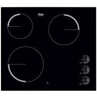 FAURE FEV6131FBA Table de cuisson vitroceramique-3 foyers-5300 W-L 59 x P 52cm-Revetement verre-Noir