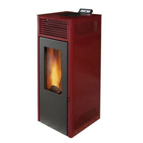 INVICTA Poele a granules Nola 7 - 7 kW - Rouge