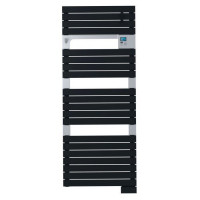 SAUTER Asama Radiateur Seche-serviettes electrique - 750 watts - LCD - Programmable - Barres plates - Anthracite
