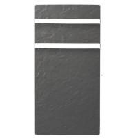 MAZDA DUAL KHERR 1000 watts Radiateur Seche serviettes electrique a inertie pierre programmable - Couleur Ardoise Noire