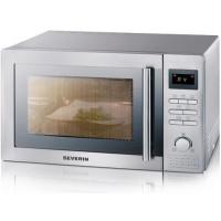 SEVERIN MW 7868 micro-ondes combine inox brosse - 25 L - 900 W - Grill 1400 W - Four chaleur tournante 2400 W - Pose libre
