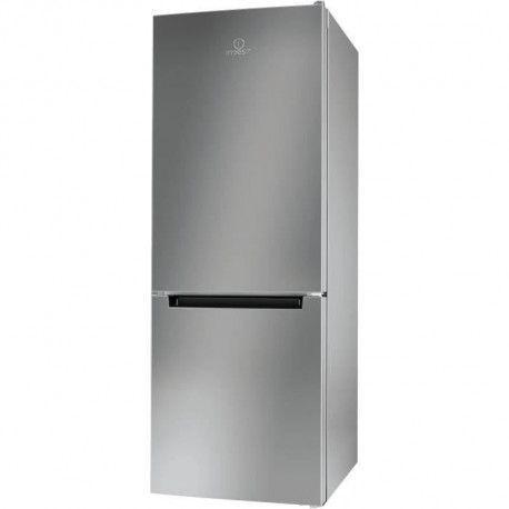 INDESIT LR6 S1 S - Refrigerateur congelateur bas - 271L 196+75 - Froid statique - A+ - L 60cm x H 156cm - Silver