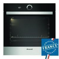 BRANDT BXP5100X Four electrique encastrable a convection naturelle - 68L - Pyrolyse - A - Inox