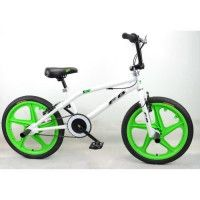 MERCIER Velo BMX Freestyle 20 4 Pegs - Blanc et vert