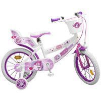Velo 16 Super Wings - Fille - Blanc / Rose