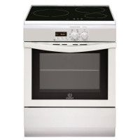 INDESIT I63IIP6MW/FR - Cuisiniere table Induction-3 zones-Four electrique-Pyrolyse-59L-A-L60xH85cm-Blanc