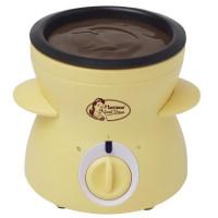 BESTRON DCM043 Fondue a chocolat - Jaune Pastel