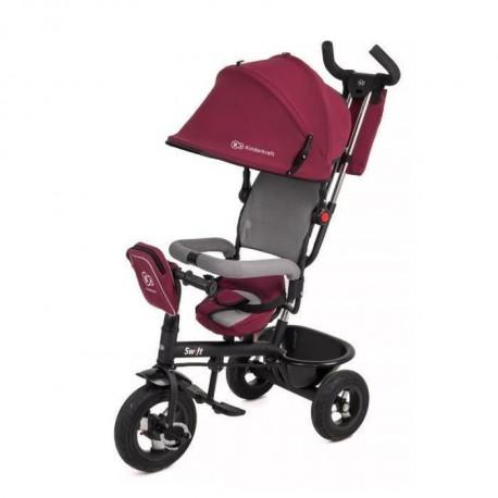 KINDERKRAFT Tricycle enfant/bebe Mixte  - poussette evolutive - de 1 a 5 ans - Rouge