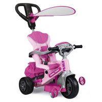 FEBER - Tricycle Evolutif Baby Twist 360? 10 Pouces - Rose