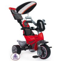 INJUSA Tricycle avec Pare Soleil Rouge