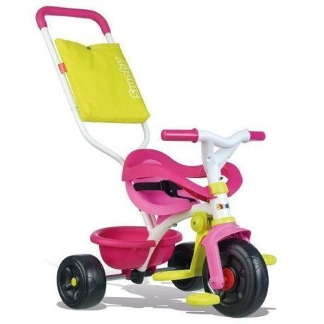 SMOBY Tricycle Enfant Evolutif Be Fun Confort Rose