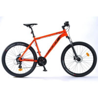 TVT VTT Homme 27,5 - Cadre aluminium - Rouge orange fluo