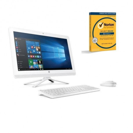 HP PC tout en un- 22b011nf- 22 FHD- 4 Go de RAM - Windows 10 - Intel Pentium J3710 - Intel HD Graphics- Disque dur 1 To + Norton