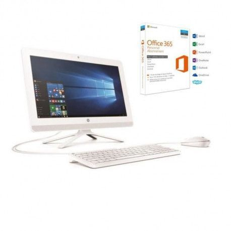 HP PC Tout-en-un - 20- 20c010nf - 4Go de RAM - Windows 10 - AMD E2-7110- AMD RADEON R2 - Disque dur 1TO + Office