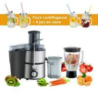 Pack Centrifugeuse + 4 jars colorees Detox