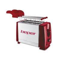 BEPER 90.482H Grille-pain 2 fentes - 700 W - Acier et Rouge