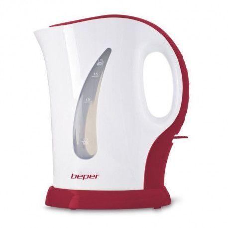 BEPER 90.350H Bouilloire electrique - 1,7L - 2200 W - Blanc et Rouge