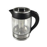 BEPER BB.103 Bouilloire electrique en verre - 1,8 L - 2200 W - Noir