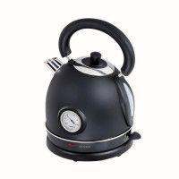 DOMOCLIP DOD157N Bouilloire retro avec thermometre - Noir