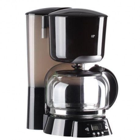 CONTINENTAL EDISON CF12PB Cafetiere filtre programmable - Noir