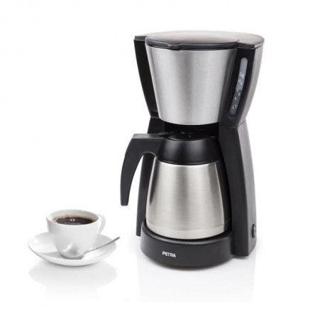 PETRA 242239 Cafetiere filtre avec verseuse isotherme - Noir
