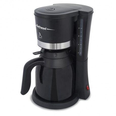 TECHWOOD TCA-1080 Cafetiere filtre avec verseuse isotherme - Noir
