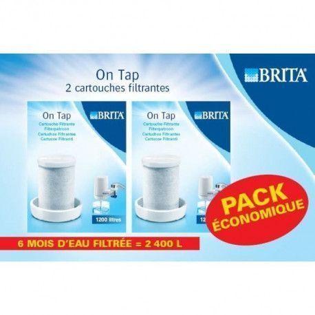 BRITA Lot de 2 cartouches filtrantes pour filtre sur robinet On Tap