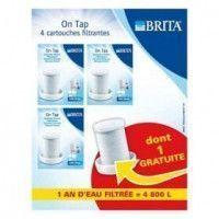 BRITA Pack 4 cartouches pour filtre sur robinet ON TAP