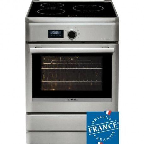 BRANDT BCI6658T-Cuisiniere table induction-3 zones-Four electrique-Pyrolyse-57 L-A-L 60 x H 85 cm-Silver