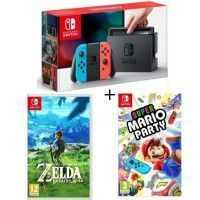 Console Nintendo Switch Neon + Super Mario Party + The Legend of Zelda : Breath of the wild