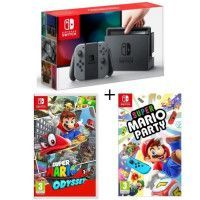 Console Nintendo Switch Grise + Super Mario Party + Super Mario Odyssey