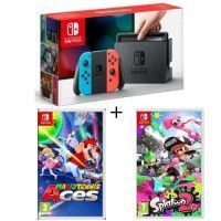 Pack Nintendo Switch Neon + Splatoon 2 + Mario Tennis Aces