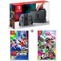 Pack Nintendo Switch Grise + Splatoon 2 + Mario Tennis Aces
