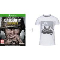 Pack Call Of Duty : Jeu Xbox One Call of duty World War II  + T-shirt Konix Call of Duty WWII - Taille M - Blanc