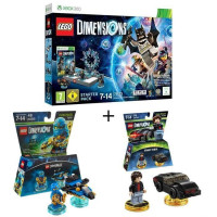 Pack LEGO: Starter Pack Xbox 360 Lego Dimensions + 2 Figurines LEGO Dimensions: Jay Ninjago + Knight Rider