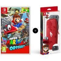 Super Mario Odyssey Jeu Switch + Pochette de transport et de protection en edition limitee