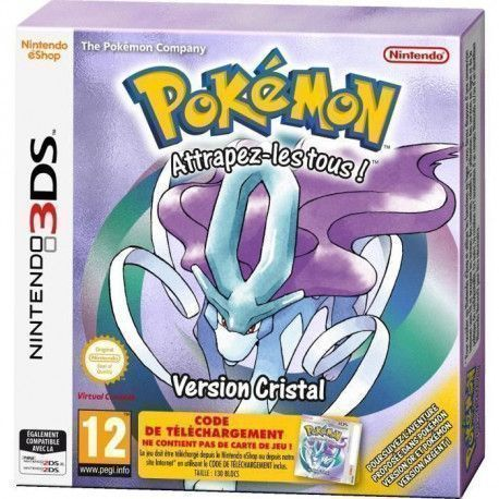 Pokemon Version Cristal jeu 3DS